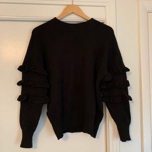 Anthropologie Black Crewneck Sweater